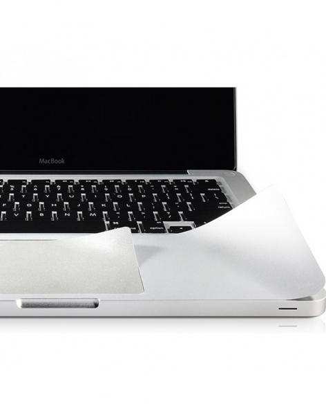 """Folie protectie palm rest si trackpad aspect aluminiu pentru Macbook Pro Retina 13.3"""""""