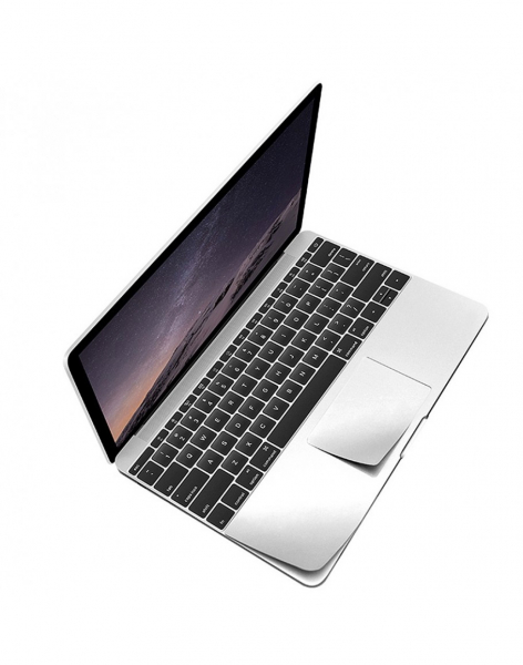 "Folie protectie palm rest si trackpad aspect aluminiu pentru MacBook Pro 15.4"" 2016 / Touch Bar"