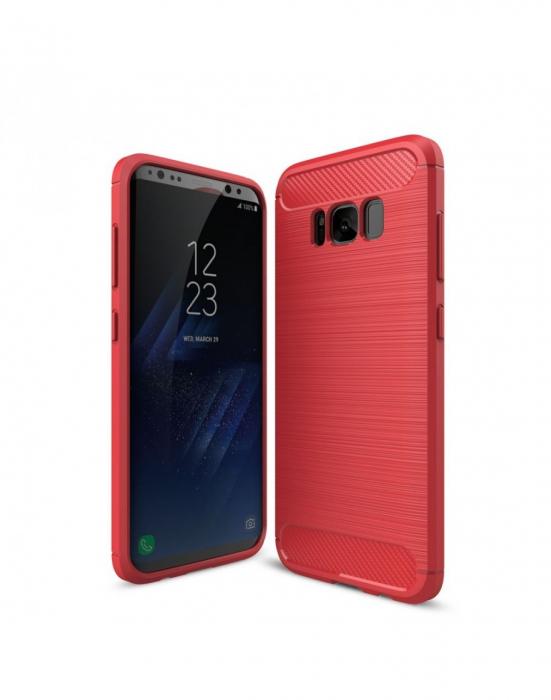 Carcasa protectie spate din gel TPU pentru Samsung Galaxy S8+ G955, Rosu