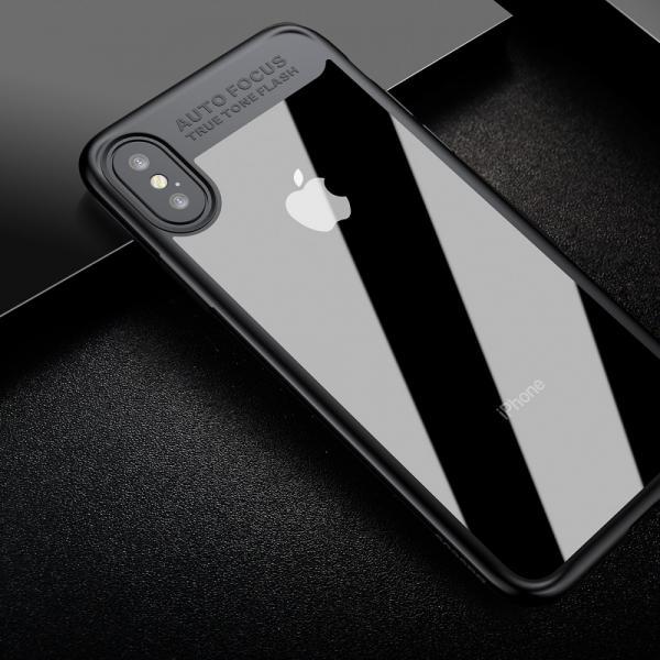 Carcasa protectie spate din gel TPU si plastic pentru iPhone X 5.8 inch