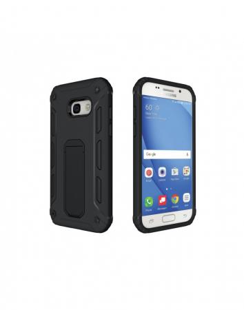 Carcasa protectie spate din plastic si TPU pentru Samsung Galaxy A3 (2017), neagra