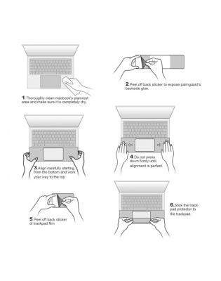 "Folie protectie palm rest si trackpad aspect aluminiu pentru MacBook Pro 15.4"" 2016 / Touch Bar, space grey"