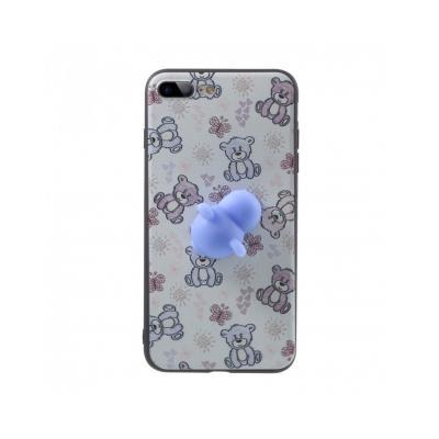 Carcasa protectie spate cu urs Squishy pentru iPhone 7 Plus / iPhone 8 Plus