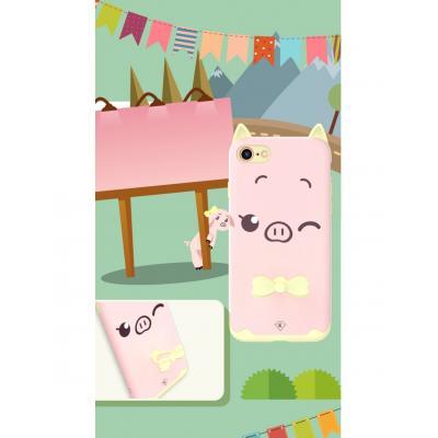Carcasa protectie spate KINGXBAR imprimata pentru iPhone 7, iPhone 8, roz