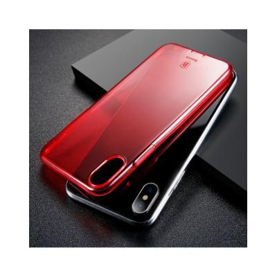 Carcasa protectie spate din gel TPU cu dopuri anti-praf pentru iPhone X 5.8 inch