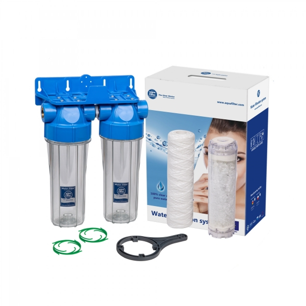 Sistem de filtrare in 2 etape Aquafilter FHPRCL34-B1-TWIN