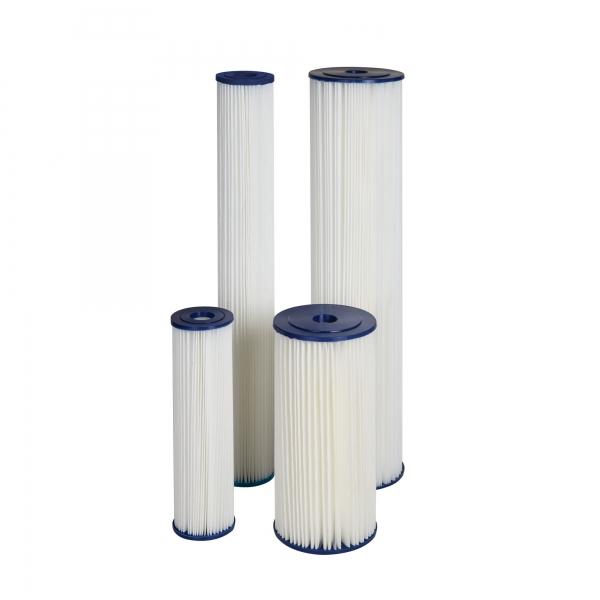 "Cartus filtrant lavabil din poliester plisat 10"" Aquafilter"
