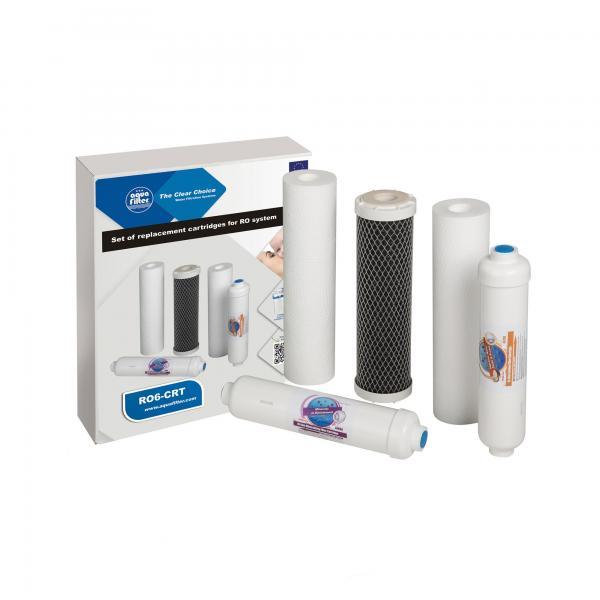 Set 5 filtre de schimb purificator cu osmoza RO6-CRT