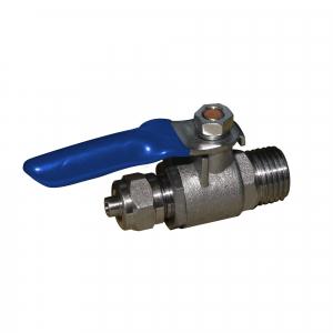"Robinet de trecere Aquafilter din alama cu bila conexiuni 1/4"" - SEWBV1414"