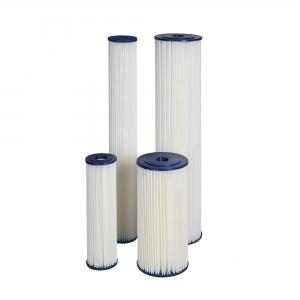 "Cartus filtrant lavabil din poliester plisat 10"" Aquafilter FCCEL"
