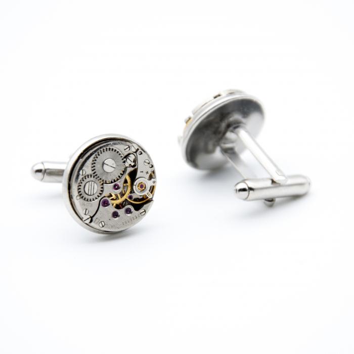 Butoni Camasa Rotunzi - cu mecanism de ceas