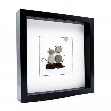 Tablou ZEN Cats - Colectia Pebble Art