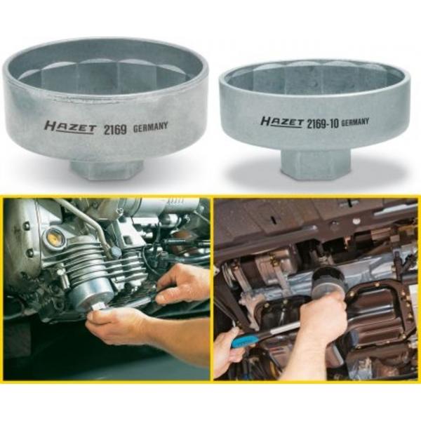 Cheie filtre tip cupa 74,4mm, 14 canturi, 3/8inch  Hazet