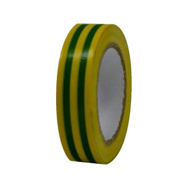 Pachet 10 bucati banda izolatoare PVC galben-verde