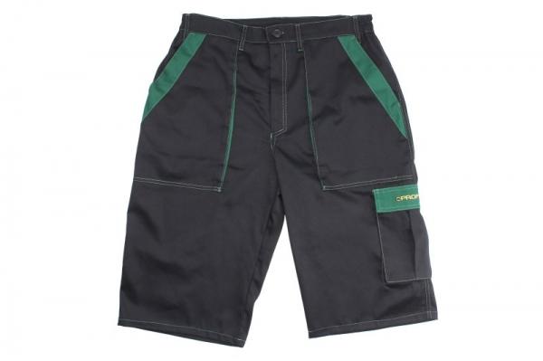 Pantaloni lucru scurti negru verde marimea XL