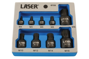 Set biți cu tubulare, profil subțire Laser Tools