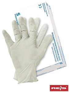 Set 100 manusi din latex albe marimea XL cu pulbere
