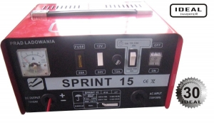Redresor curent Incarcator acumulatori 12 24 V acumulatori cu acid Sprint 15