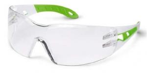 Ochelari protectie UVEX lentile transparente anticondens acoperire HC-AF alb verde