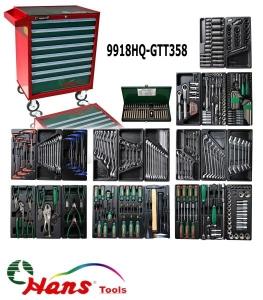 Carucior scule echipat 358 piese 8 sertare 812x670x460 mm