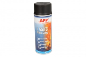 Spray lac negru mat rezistent caldura 400 ml