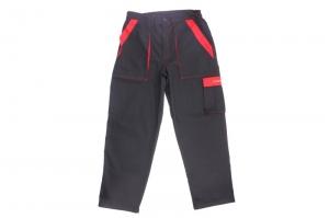 Pantaloni de lucru negru rosu marimea L 260g/m2