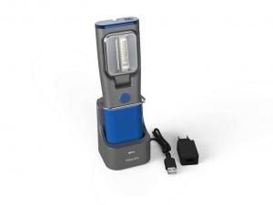 Lampa service LED fara fir Philips cu statie incarcare maner rotativ