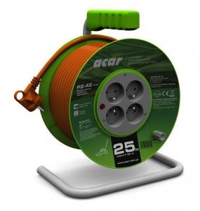 Prelungitor curent 230 V tip bobina 25 m cu 4 prize