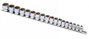 """Alldrive Set tubulare 3/8"""" pe șină – 18 piese Laser Tools"""