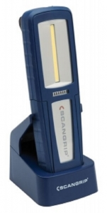 Lampa service LED rezistenta praf impermeabila cu carlig magnet si incarcator statie andocare