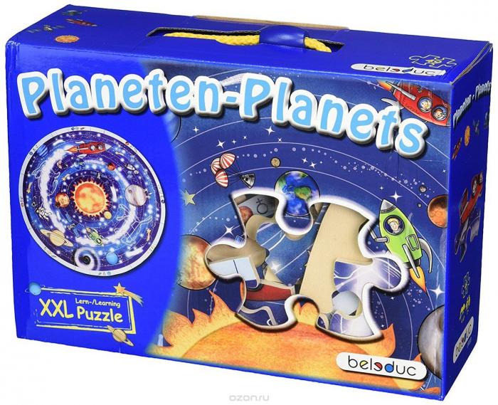Sa invatam planetele - Puzzle circular XXL - piese mari