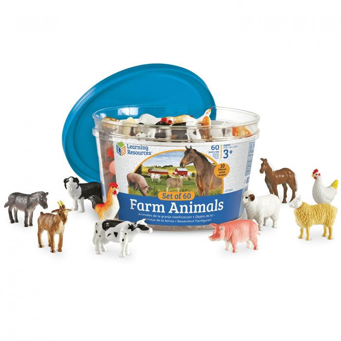 Set 60 Figurine - Animale de la ferma - Learning Resources