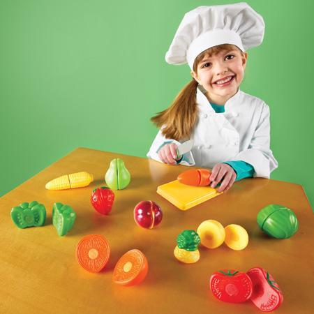 Joaca-te si imita - Set de feliat fructe si legume