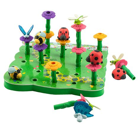 Gradina cu insecte - Set educativ de indemanare si vocabular