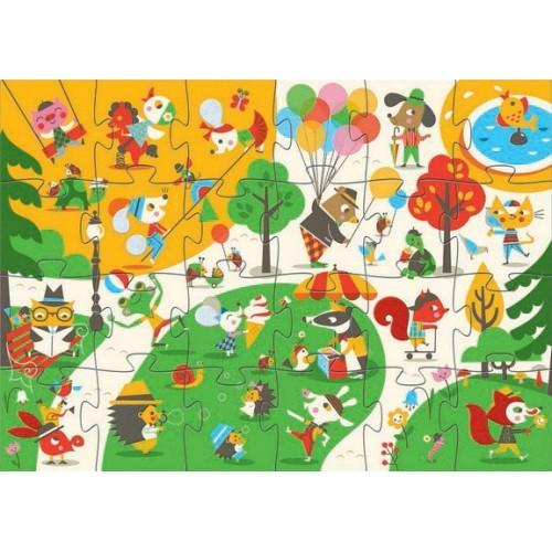 Puzzle gigant - In parc
