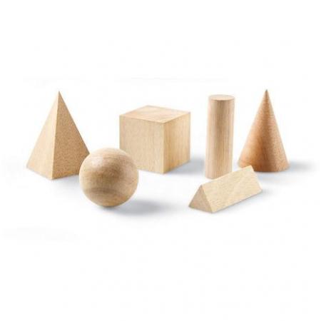 Set 12 figuri geometrice de lemn