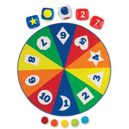 Saltea activitati - Circle time - Cifre, forme si culori