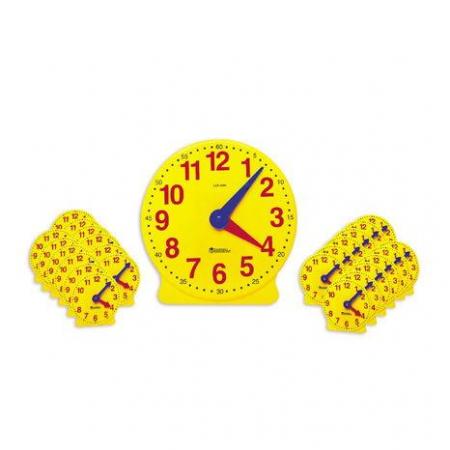 Ceasul didactic - Set de 25 de ceasuri pentru clasa si indrumator
