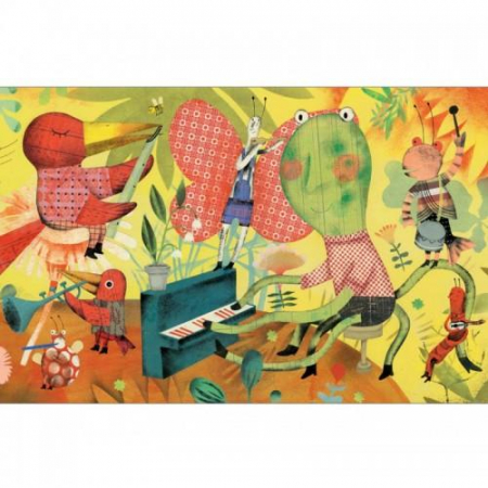 Puzzle 200 piese - Orchestra din iarba