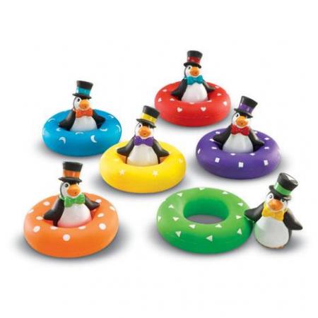 Pinguinii colorati - Set de joaca in baie