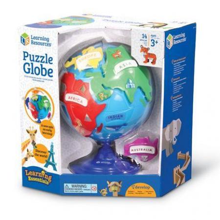 Puzzle interactiv - Globul pamantesc