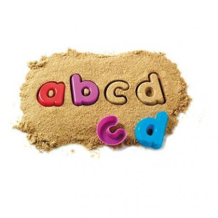 Litere mici de tipar - Set 26 forme nisip