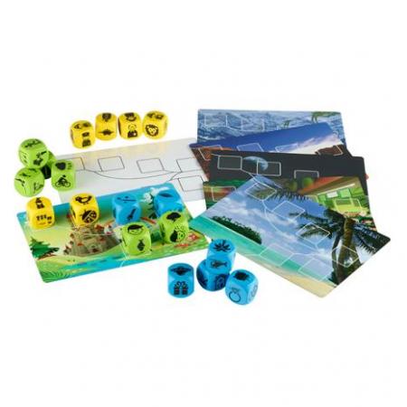 Inventeaza povesti - Plot Blocks - Set zaruri de poveste  - Gradinita sau acasa