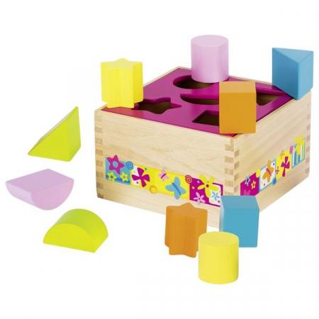 "Cub Montessori ""Forme geometrice"" + 1 an"