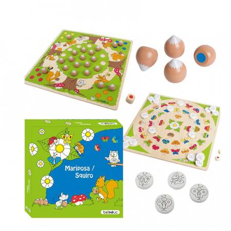 Set 2 jocuri de lemn - Mariposa si Squiro - marca Beleduc