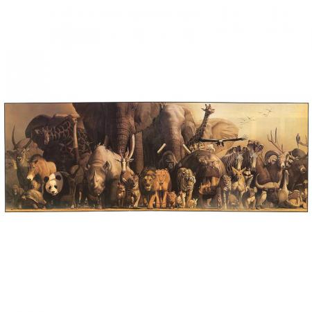 Poster deluxe tip panorama - Dinozauri si Animale ale junglei