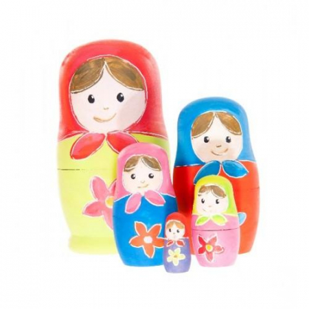Set de pictat papusi matrioshka