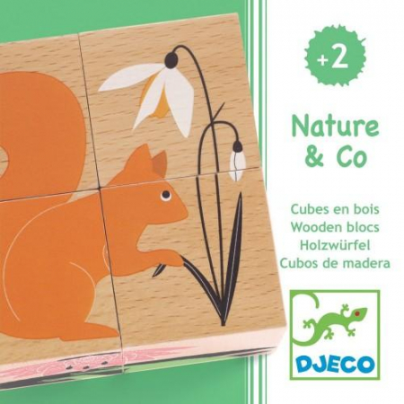 Cuburi din lemn Natura