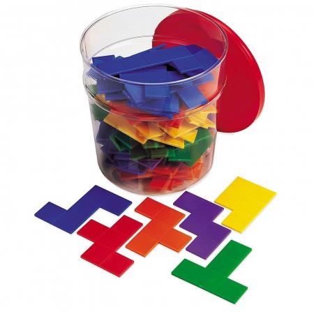 Piese tetris curcubeu - Pentomino - jucarie educativa
