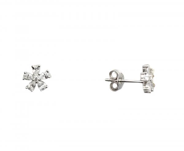 Cercei argint floricele - DA94